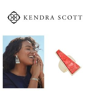 Kendra Scott Collins Cocktail Ring Gold Magnesite